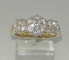 Cluster Excellent Cut Round VS1 Fine Diamond Rings