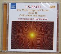 CD J.S.Bach The Well-Tempered Clavier Book 2 Luc Beausejour Naxos 2015 neu & ovp