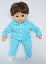 "15"" Doll Clothes fits Boy Doll Blue Star Pajamas for 15"" Boy Doll"