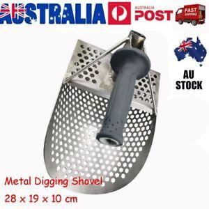 Stainless Steel Metal Detector Tool Sand Scoop Anti Corrosion Digging Shovel AU