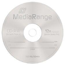 10 MediaRange CD-RW 1x - 12x rewritable blank discs CD RW High Ultra burn MR235