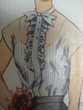 Vintage 1940's Simplicity 4118 BACK-BUTTONED OVERBLOUSE Sewing Pattern Women