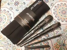 Jay Manuel Beauty🌹4 Piece Professional Makeup Brush Set With Pouch🌹New