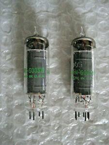 Matched Pair NOS NIB JAN 6005 6AQ5 GE Power Pentodes Same Batch TV-2 Tested #2