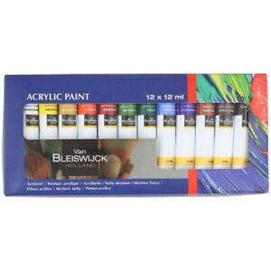 Set peinture Acrylique 12 Tubes 12ml 12 Couleurs