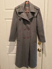 VINTAGE ILGWU JACKET COAT LONG GRAY WOMENS WINTER S Small