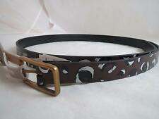 womens Fossil gold tone buckle cheetah print reversible leather belt, sz S, NWT