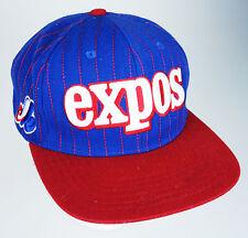 Montreal Expos Baseball Cap Plastic Snapback Wool Blend Hat