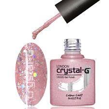DIAMOND GLITTERS NAIL GEL POLISH by CRYSTAL-G UV LED SOAK * D16 PINK LOVE *