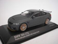 BMW M4 GTS 2016 mat gris /orange JANTES 1/43 Minichamps 410025220 NEUF
