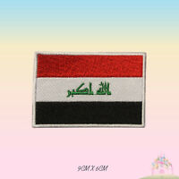 Iraq National Flag Embroidered Iron On Patch Sew On Badge Applique