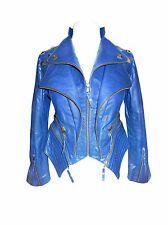 Damen Lederjacke Blau - Bicker Lederjacke - echtes Rindsleder - echt Leder