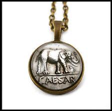 Elephant necklace, roman coin, archaeology / ciondolo collana elefante, moneta