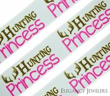 "High Quality 7/8"" Hunting Princess Printed Grosgrain Ribbon ~ Sold By The Yard"