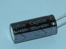 120 uF 400 Volt 16x35.5 105* Radial Electrolytic Capacitor (5 Piece Lot)