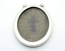 """Sterling Silver .925 Vintage Oval Picture Frame 3.8""""x5"""" 53.8g #1534"""