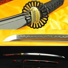 HANDMADE JAPANESE SAMURAI SWORD KATANA CLAY TEMPERED FULL TANG BLADE VERY SHARP