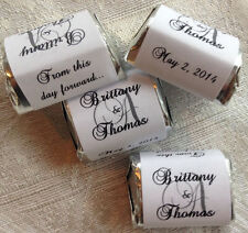300 MONOGRAM THEMED WEDDING CANDY WRAPPERS/STICKERS/LABELS personalized FAVORS