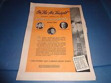 """1941 Newsweek Radio Vintage Magazine Ad """"Ahead of the Headlines"""""""