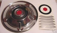 58 Packard Wheel Covers Vinyl Inserts 14 Inch