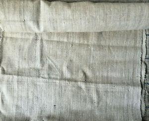 Organic Hemp Canvas Fabric textile Handwoven Handloom natural undyed 85cmx48cm