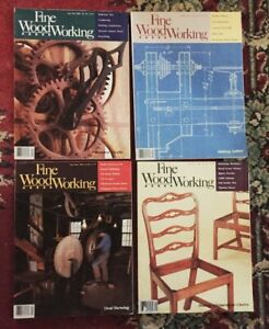 FINE WOODWORKING MAGAZINE   LOT OF 4  YEAR 1986