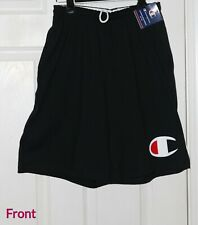 Champion men jersey short with Pockets big C logo (Black, medium size)