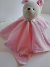 Carters Child of Mine Bunny Lovey Security Blanket Pink Rattle Mommy Loves Me