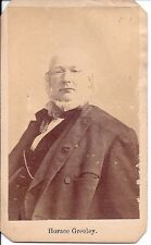 Horace Greeley Antique CDV, Whig,  Politician, Abolitionist,  NY Tribune Editor
