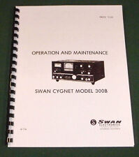 Swan Cygnet 300B Instruction Manual - Premium Card Stock Covers & 28 LB Paper!