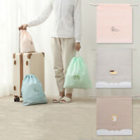 Cute Travel Toiletry Bag Cosmetic Storage Bag Waterproof Makeup Drawstring Pouch