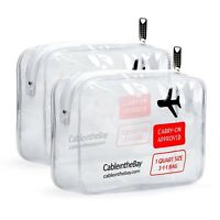 Cableinthebay TSA Approved Clear Travel Toiletry Bag(2PACK)|Clear Travel Bags...