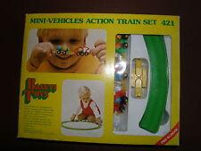 VINTAGE TRAIN SET MINI VEHICLES PUSH ALONG TRAIN EX SHOP STOCK