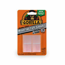 Gorilla Glue Clear Mounting Tape Squares - Pack of 24 (6067202)