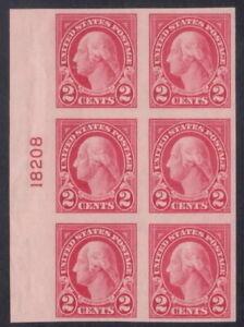 577 - 2¢ Imperf 4th Bureau Flat Plate Printing Plate Block - VF-XF NH - CV $45