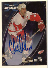 CHRIS CHELIOS IN THE GAME ITG FINAL VAULT ON CARD AUTO