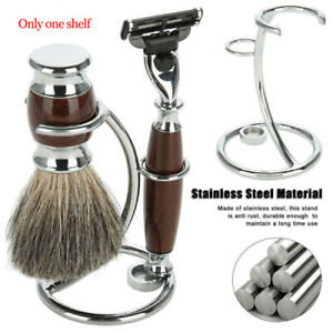 Universal Shaving Brush Stand Simple Metal Safety Razor and Brush Holder Stands