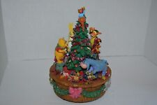 The Disney Store Winnie the Pooh and Friends Christmas Music Box Tree Figurine