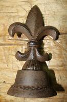 Large Cast Iron FLEUR DE LIS Finial Garden Statue Home Decor Rustic Ranch SAINTS