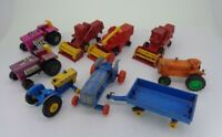 9x Vintage Matchbox Combine Harvester Mod Tractor Fordson tractor Marx tractor