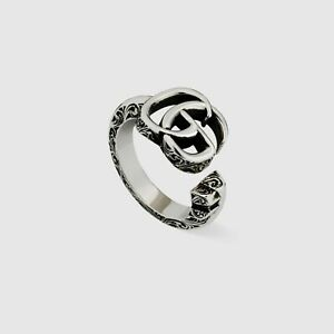 RING GUCCI GG Marmont Key YBC627760001 Sterling silver SIZE L  N  New Open