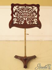 L38897: Pierced Mahogany & Brass Federal Style Adjustable Music Stand ~ New