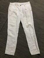 Zara Man Adult Medium (34 x 32) Linen Pants Beige