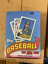 1989 Topps Baseball Wax Box 36 count UNOPENED
