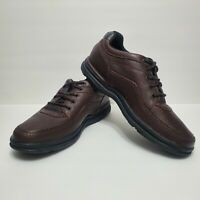 ROCKPORT Classic Men's Brown Leather Comfort Casual Walking Shoes. Size 11.5 W