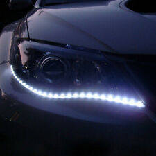 2x White Car Decor 12V 12LED 30cm 5050 SMD Strip Flexible Light Car Accessories