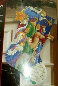 Finished RARE Bucilla The Procession Christmas Stocking From Kit #86055