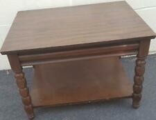 Fabulous 1970's Wood Veneer Dual Level Accent End Table - GDC - GREAT TABLE