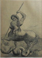 Redon Odilon (1840-1916) : the Centaur - Engraving And Stencil Signed #1950