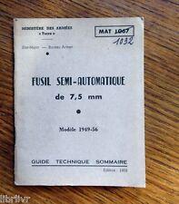Guide technique du fusil  automatique de 7,5 mm  Modèle 1949-56